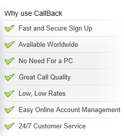 international callback providers | international callback service